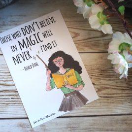 Quote kaart – Roald Dahl