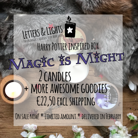 MAGIC is MIGHT – Een Harry Potter geïnspireerde kaarsenbox met goodies.