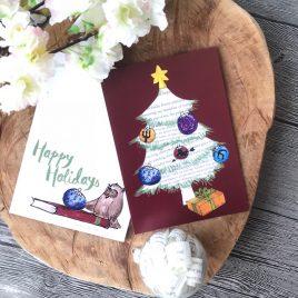 Happy Bookish Holidays! Kerstkaart